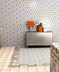 decoración cerámica en cocinas formato exagonal