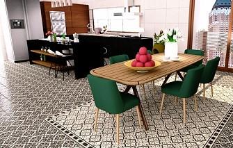 decoración cerámica en cocinas la elegancia de las alfombras hidráulicas