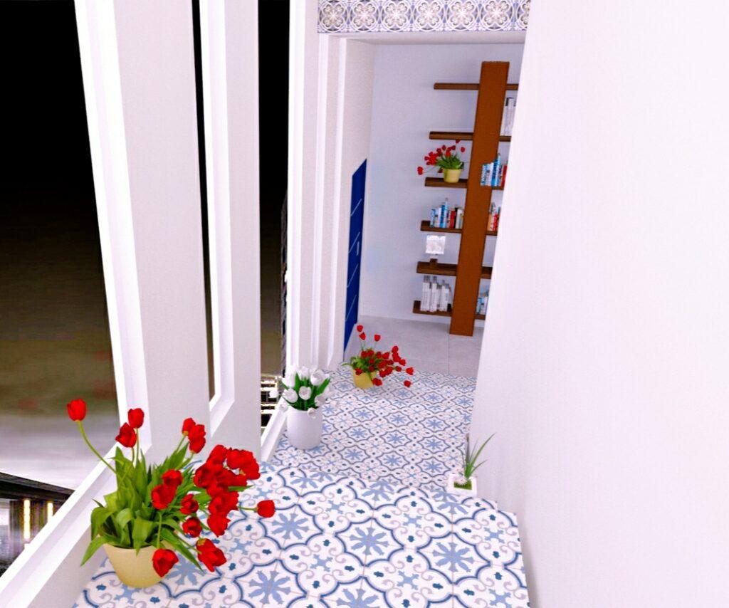 Detalle de escaleras porcelánicas (Úbeda)