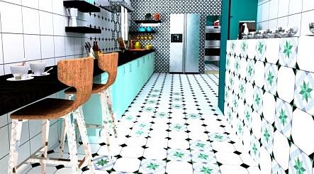 decoración cerámica en cocinas esstilo vintage andaluz