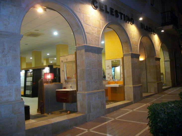 Detalle de la fachada de las instalaciones de Celestino Blanco en Jódar