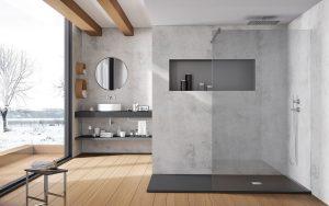 Ejemplo de lavabos y platos de ducha de resina